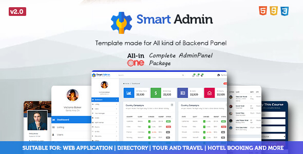 Multipurpose Admin Panel Template
