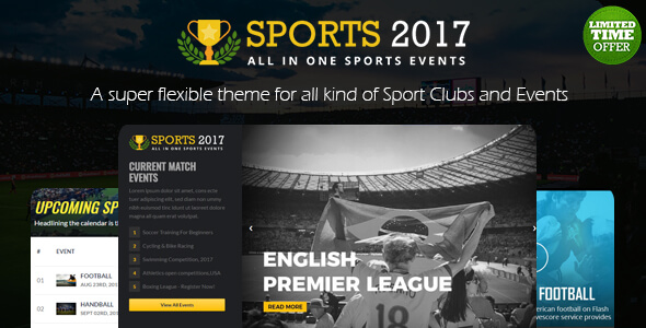 Sports Club html Template